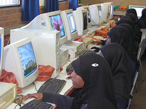 Learners in the computer lab